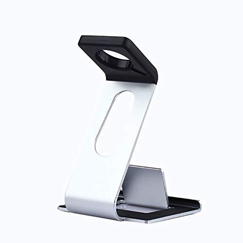Steellwingsf Ladungshalter, Mode aus Aluminium-Legierung Ladungsleich-Schalt-Halterung f¨¹r iPhone iwatch-Silber-Smart Elektronik Zubeh?r