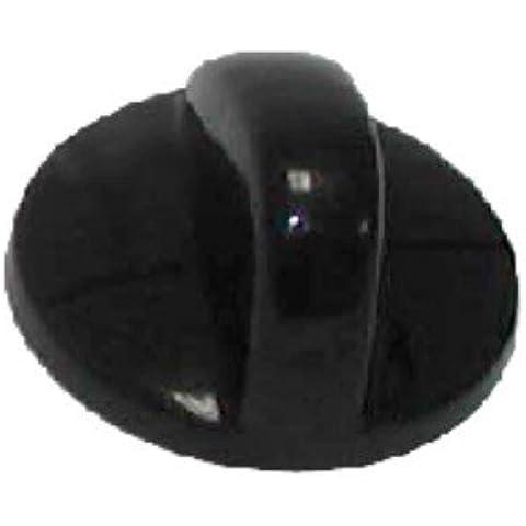 Mando grifo gas Placa TEKA EJE 5,5 mm. NEGRO