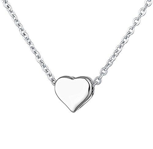 Herz-hängende Halsketten weißes Gold überzogene Kette empfindliche Charme-Art-  und Weiseschmucksachen für f773ff8687