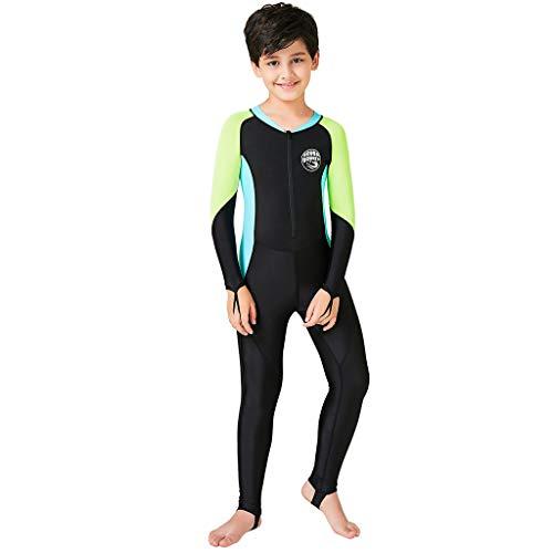 AIni Kinder Surfanzug Neoprenanzug,Wetsuit Schwimmen Surfanzug Surfen Tauchen Sport Badeanzug Neu Kinder Neoprenanzug Schnorcheln Overall Kurzarm Taucheranzug Einteilige Badebekleidung