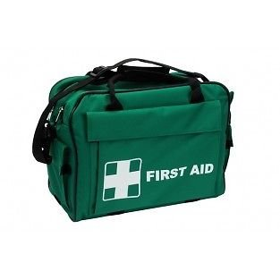 KITTED HEAVY DUTY FIRST AID BAG WITH OPTIONAL FREE PRINTING (PRINT DETAILS TO BE SUPPLIED AT TIME OF ORDERING)