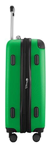 HAUPTSTADTKOFFER® · 2er Hartschalen Kofferset · Modell: SPREE · Handgepäck 49 Liter + Reisekoffer 82 Liter · in verschiedenen Farben + DESIGN KOFFERANHÄNGER (Apfelgrün) -