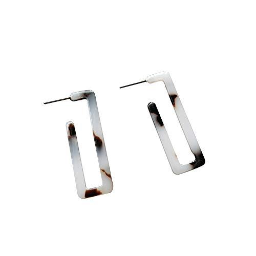 Spaufu Exquisite Ohrringe Rechteck Muster für Frau Mädchen Anhänger Eardrop Ohrstecker Zubehör Schmuck Ornament Acryl ()