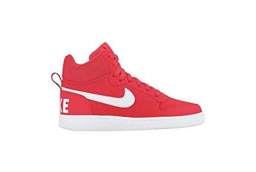 Nike Wmns Court Borough Mid, Scarpe da Basket Bambina Rojo (Rojo (bright crimson/white))