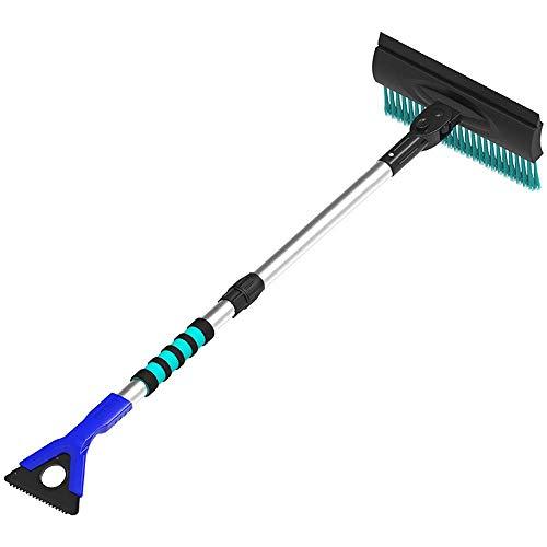 ACZZ Schneeräumbürste/Werkzeug für Fahrzeuge Ndash; Push-Broom-Design mit ausziehbarem 91-cm-Teleskopgriff - Entfernen Sie schweren, nassen Schnee von Ihrem Auto/Geländewagen/LKW, ohne den Lac - Push-broom