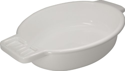 Waschschale aus Kunststoff mit Seifenablage, weiß - Waschschüssel