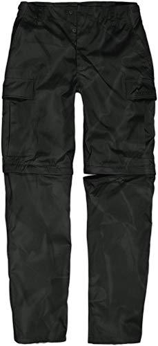 Zip Abnehmbare (normani Herren leichte 2-in-1 Zip Off Funktionshose Rip-Stop Feldhose Wanderhose [XS-5XL] Farbe Schwarz Größe 4XL/60)