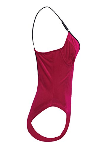 Simplee Apparel Damen Body burgunderfarben