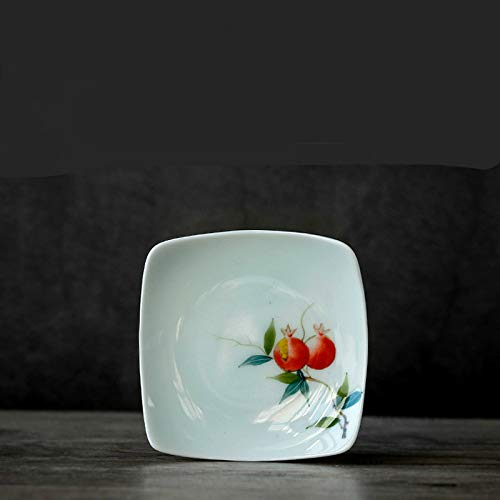 Qwdf Pintado Mano cerámica Posavasos portavasos Kungfu