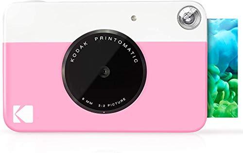 Oferta de Kodak Printomatic - Cámara de impresión instantánea, imprime en Papel Zink 5 x 7.6 cm con respaldo adhesivo, rosado