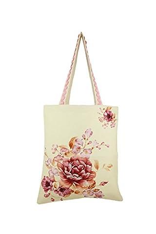 Imprimé numérique Printemps 100% toile de coton Sac de shopping 16x14 pouces, 170 grammes, SCB01-5