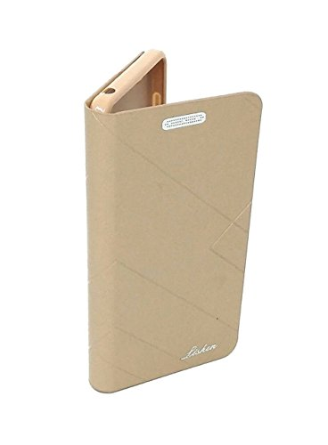 GSMOBILE Royal Lishen Leather Diary with Book Kick Stand Flip Cover for Samsung Galaxy On7/ Samsung On7 Pro-Gold