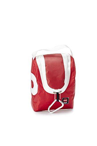 360°, Beauty case, Marrone (Braun /Weiße Zahl), 14 x 23 x 11 cm, 2 litri Rosso (Rot /Weiße Zahl)