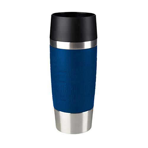 Emsa 513357 Travel Mug Standard-Design, Thermobecher, 360 ml, blau (Web Und Marken)