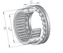 NKX60 INA COMBINED ROLLER/BALL BEARING