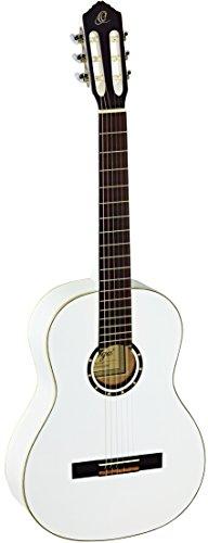Ortega R121WH Konzertgitarre in 4/4 Größe weiß im hochglänzenden Finish mit hochwertigem Gigbag
