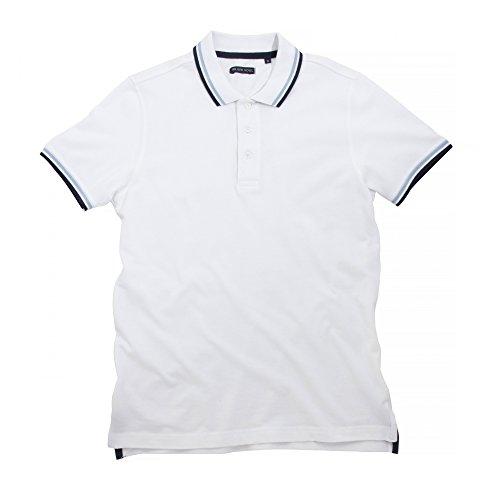 Brave Soul Herren Pavlov Polo-Hemd, kurzärmlig Marineblau/Hellblau/Weiß