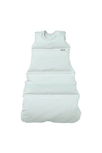 Climarelle Daunenschlafsack, längenverstellbar, Alterskl. ca 3-20 Monate, Vichy türkis, 80 cm