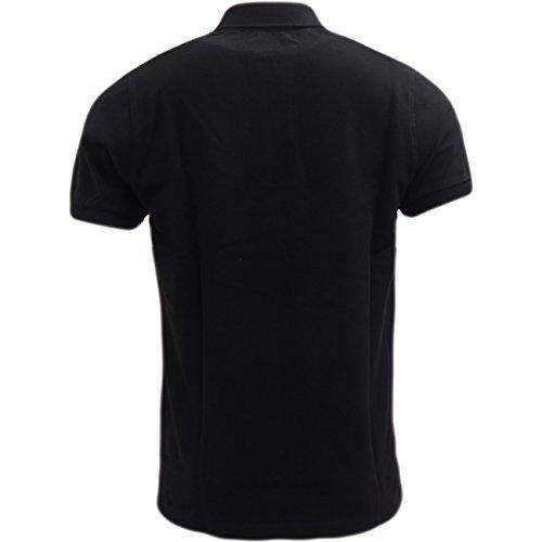 US POLO ASSN Herren Poloshirt, Einfarbig Schwarz - Schwarz