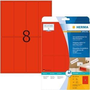 HERMA Versandetikett/Warnhinweis neon-rot 50x142mm Special A4 VE=160 St