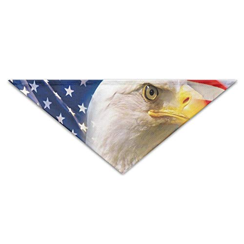 Myhou Halstuch für Hunde und Katzen, Design: American Eagle Flag -