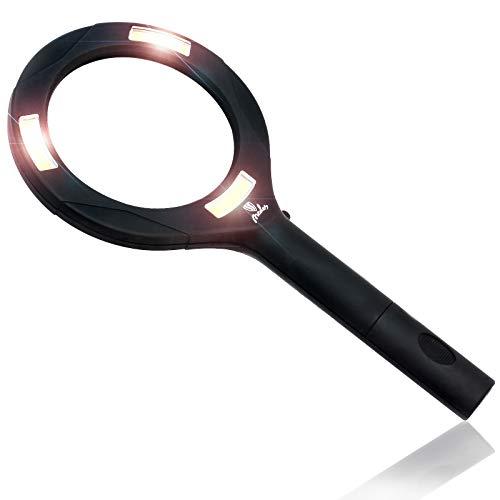 Lupe mit Beleuchtung – NEDES Lupe mit Licht ideal als Leselupe mit Licht für Senioren hochwertig:...