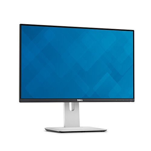 Dell  U2414H UltraSharp - Monitor para PC Desktop  23.8' (1920 x 1080p, 250 cd/m2, IPS, 8 ms, HDMI, DisplayPort) color negro y plateado