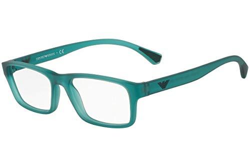Emporio Armani Unisex-Adult EA3088 Brillen 53-17-140 5534 EA 3088 Matt Grün Transparent groß