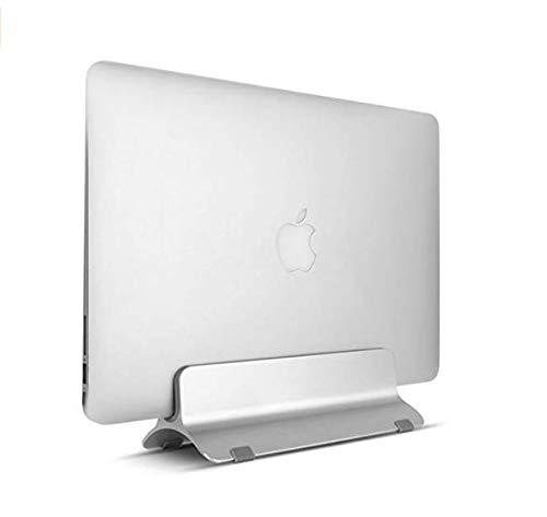 """Soporte Universal Ajustable Con 2Tabis silicona 12""""o 15"""" soporte aluminio portátil vertical para ordenador portátil Macbook Dock Stand para MacBook Pro Dell XPS Lenovo Yoga Samsung Notebook"""