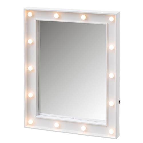 Espejo Luces led Blanco Vintage Dormitorio 39 x 49