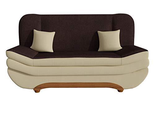 Mirjan24  Sofa Weronika mit Bettkasten und Schlaffunktion, Schlafsofa, Große Farb- und Materialauswahl, Couch vom Hersteller, Wohnlandschaft (Porto 21 + Porto 27)
