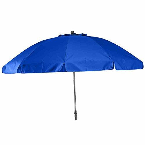 Siena Garden 271430 Tropico Parasol Base d'Acier/Polyester Bleu/Anthracite 250 cm
