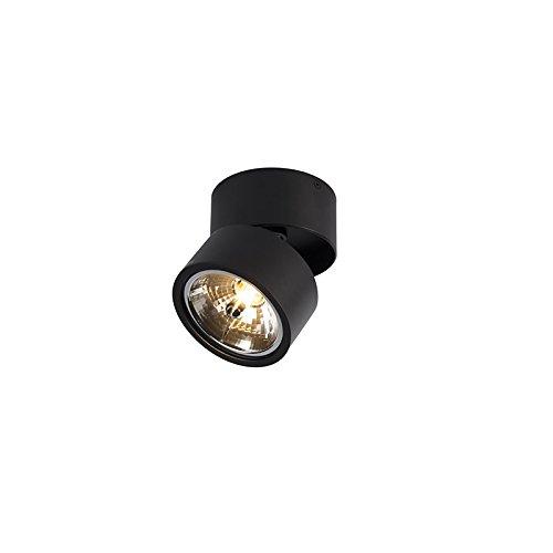 QAZQA Design/Industrie/Industrial/Modern Spot/Spotlight/Deckenspot/Deckenstrahler/Strahler/Lampe/Leuchte Go Nine Tubo schwarz/Innenbeleuchtung/Wohnzimmerlampe/Schlafzimmer/Küch