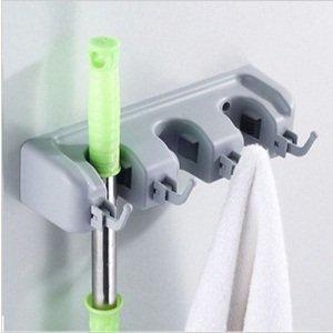 Fengh Universal 3-fach Magic Wand Halterung/Ständer Organizer für Haushalt Besen/Mopp Reinigung Werkzeug
