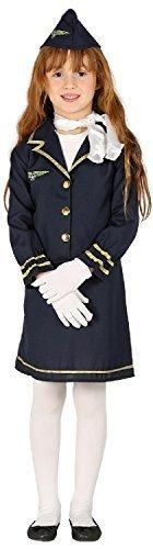 loten Aviator Stewardess Welttag des buches-Tage-Woche Beruf Job Kostüm Kleid Outfit 3-12 Jahre - 5-6 years (Mädchen Kostüm Pilot)