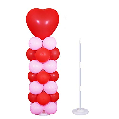 Youlala Ballonständer mit Säulenboden, Ballonständer für Hochzeit Party Geburtstag Dekoration (Für Hochzeiten Kunststoff-geschirr)