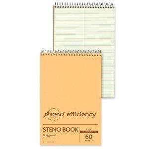 spiral-steno-book-gregg-rule-6-x-9-green-tint-60-sheets