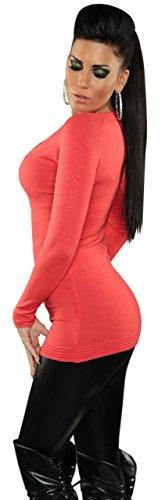 Koucla robe pull pour femme avec strass-& taille unique (convient du 34 au 40) Orange - Orange