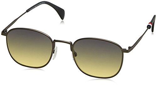 Tommy Hilfiger Herren TH 1469/S JE R80 52 Sonnenbrille, Grau (Smruthe/Green Yellow),