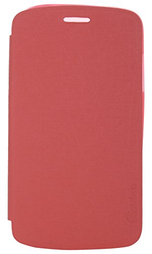 iCandy Soft TPU Non Slip Back Shell PU Leather Hybrid Flip Cover for Micromax Canvas Entice A105 - RED  available at amazon for Rs.99