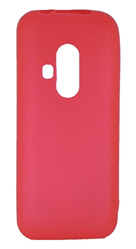 FCS Matte Finish Rubberized Silicone Back Case Cover for Nokia 220 Dual Sim (Red)  available at amazon for Rs.225