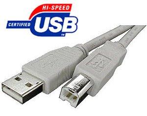 Xxion Premium 5metre universale ad alta velocità USB 2.0a-B Printer or scanner lead/cable. Adatto per tutti i marchi di stampanti che utilizzano un interfaccia USB standard. HP, Dell, Epson, Canon, Lexmark, Xerox, Samsung etc.,