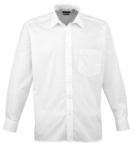 Premier camicia manica lunga popeline white* 18