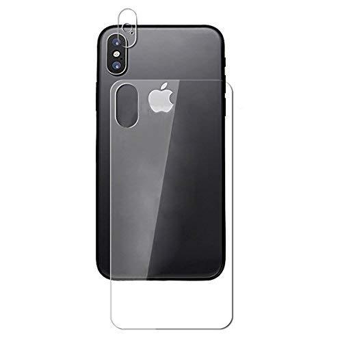 Protector Trasero iPhone X + Lente Protector Pantalla