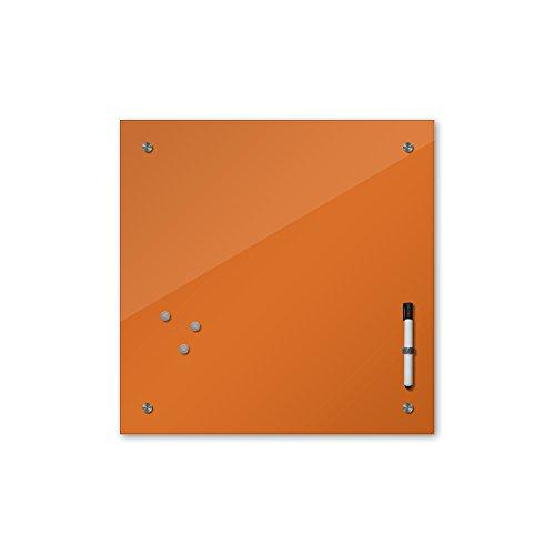 Bilderdepot24 Glas Magnettafel Memoboard Schreibtafel 40 x 40 cm, 24 Farben, kupfer