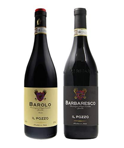 BAROLO DOCG, Vino BAROLO DOCG, BAROLO CLASSICO Vino Rosso, BAROLO il Pozzo, BAROLO e BARBARESCO, 2 Bottiglie BAROLO e BARBARESCO IL POZZO