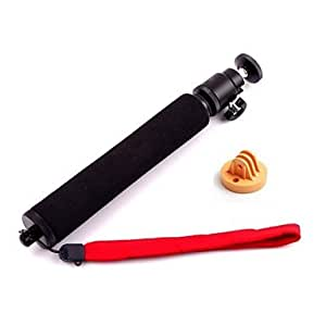 New Retractable Handheld Pole Monopod with Yellow Plastic Mount for GoPro Hero 3+/3/2 --- COLOR:Multicolor