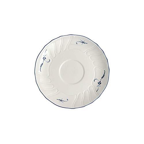 Villeroy & Boch Vieux Luxembourg Untertasse, 16 cm, Premium Porzellan, Weiß/Blau