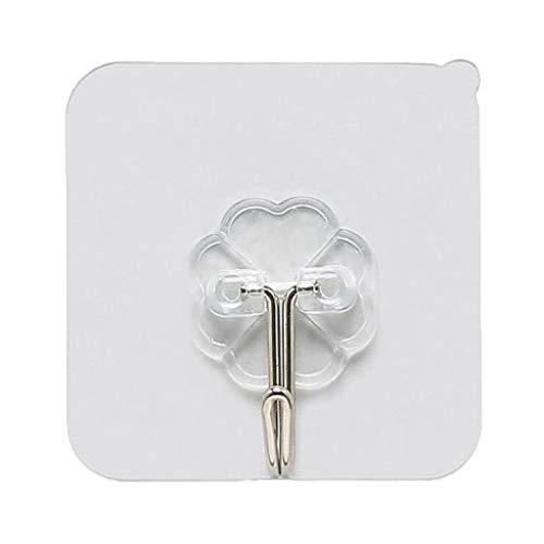 Pro Garden Tool Rack (Elecenty Haken Hooks Hochleistungswandhaken Starker transparenter Saugnapf-Saugnapf-Wandhaken-Aufhänger für Küche-Badezimmer)