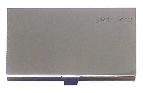 Boîte à cartes de visite gravée. Nom gravé: Jean-Louis (Noms/Prénoms)